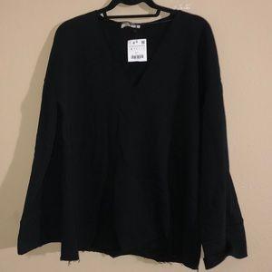 Zara black v neck sweater